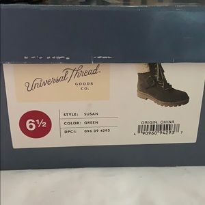 Universal Thread Shoes - Green boots